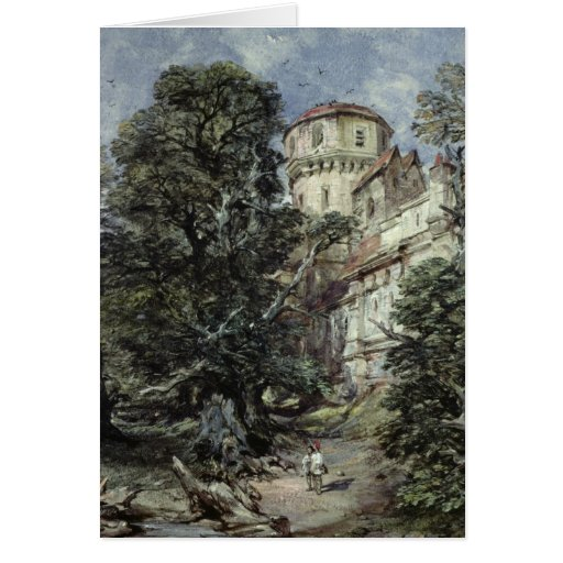 Landscape, with Castle and Trees Card