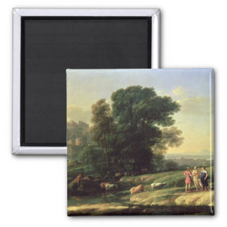 Landscape with Cephalus 2 Inch Square Magnet