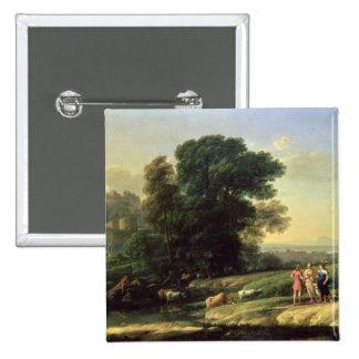 Landscape with Cephalus Pinback Button