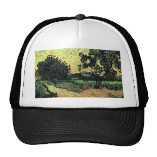 Landscape with Chateau of Auvers Trucker Hats