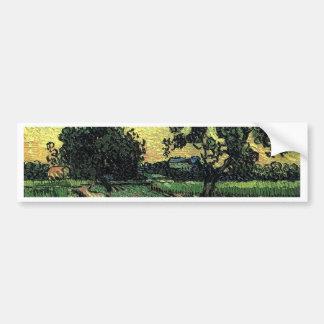 Landscape with Chateau of Auvers Bumper Sticker
