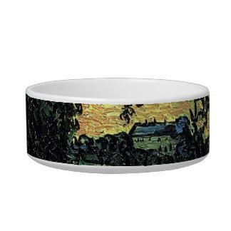 Landscape with Chateau of Auvers, Vincent van Gogh Bowl