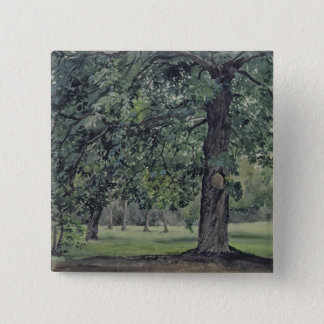 Landscape with Chestnut Tree in the Foreground Pinback Button
