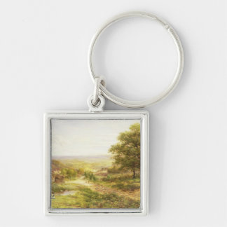 Landscape with Children by a Pond, 1884 Key Chain