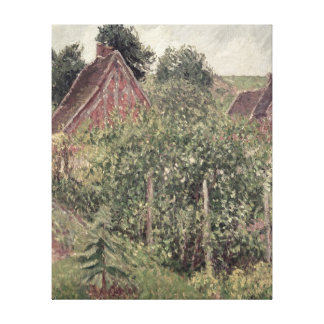 Landscape with Cottage Roofs, 1899 Canvas Print
