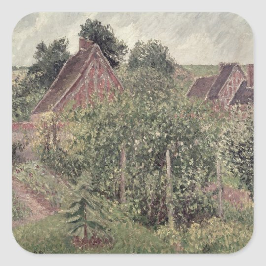 Landscape with Cottage Roofs, 1899 Square Sticker