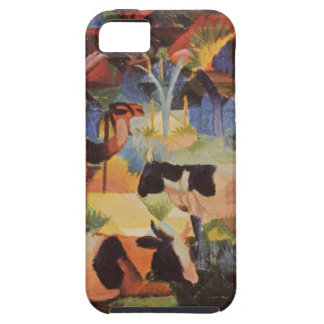Landscape with Cows and a Camel by August Macke iPhone SE/5/5s Case