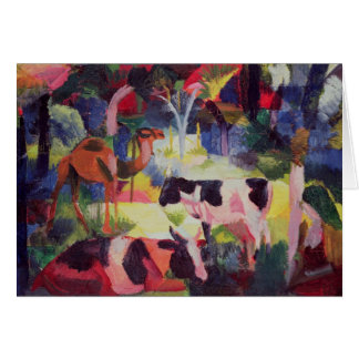 Landscape with Cows and a Camel Card