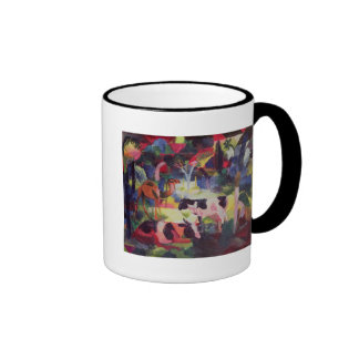 Landscape with Cows and a Camel Ringer Coffee Mug