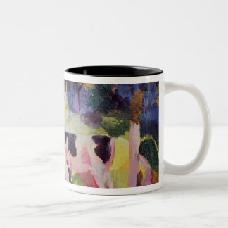 Landscape with Cows and a Camel Two-Tone Coffee Mug