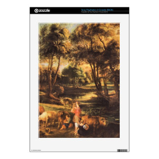 Landscape with cows and duck hunters by Rubens PS3 Decal