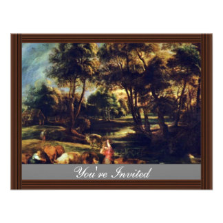 Landscape With Cows And Ducks Hunters By Rubens Announcement