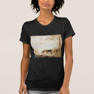 Landscape with cows by Jacob van Strij T-Shirt