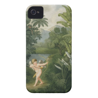 Landscape with Cupid aiming an arrow at a Parrot o Case-Mate iPhone 4 Cases