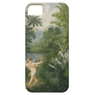 Landscape with Cupid aiming an arrow at a Parrot o iPhone 5 Cases