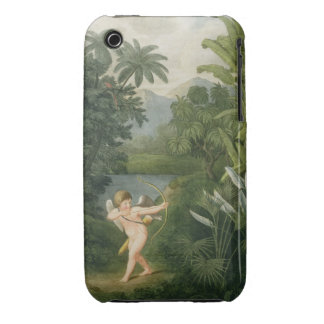 Landscape with Cupid aiming an arrow at a Parrot o iPhone 3 Case-Mate Cases