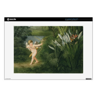 Landscape with Cupid aiming an arrow at a Parrot o Decals For Laptops