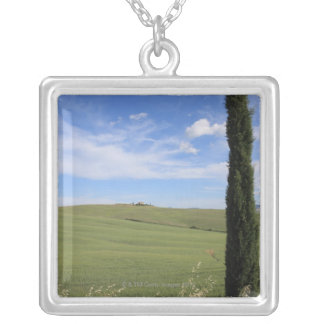 Landscape with Cypress Personalized Necklace