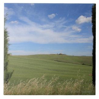 Landscape with Cypresses 2 Ceramic Tile