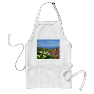 Landscape with daisies adult apron