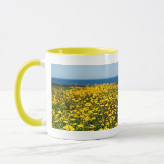 Landscape with daisies mug
