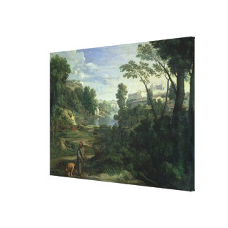 Landscape with Diogenes, 1648 Canvas Print
