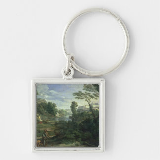 Landscape with Diogenes, 1648 Keychain