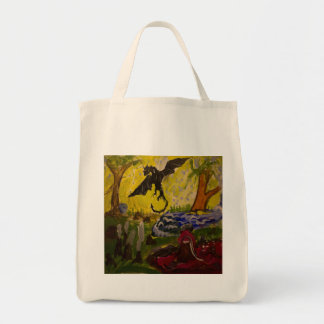 Landscape with Dragon by Genevieve John Tote Bag