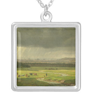 Landscape with Dresden in the Distance, 1830 Silver Plated Necklace