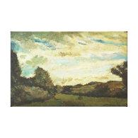 Landscape with Dunes, Vincent van Gogh,1883 Canvas Prints