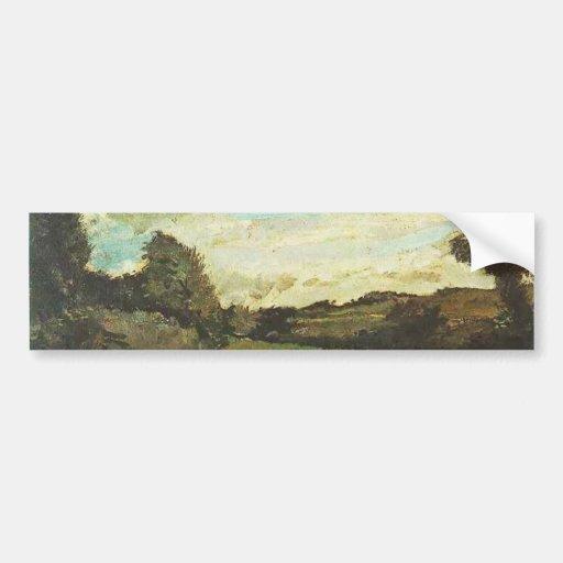 Landscape with Dunes, Vincent van Gogh Bumper Sticker