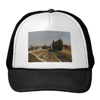 Landscape with Factory by Henri Rousseau Trucker Hat