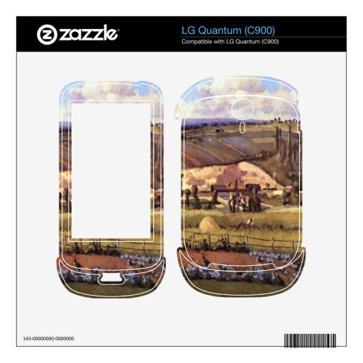 Landscape with Farm Houses by Camille Pissarro Skins For LG Quantum