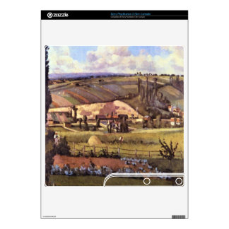 Landscape with Farm Houses by Camille Pissarro PS3 Slim Decals