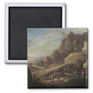 Landscape with Farmers tending their Animals Magnet