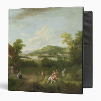 Landscape with Farmworkers, c.1730-40 (oil on canv Binder