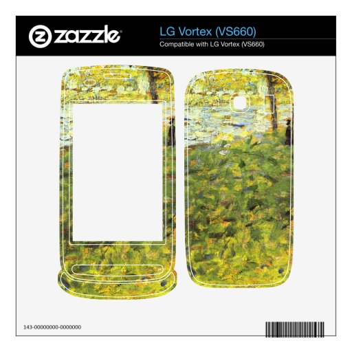 Landscape with figures by Georges Seurat Decals For LG Vortex