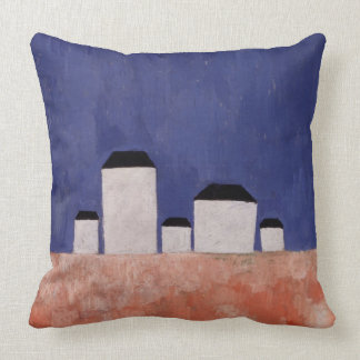 Landscape with Five Houses, c.1932 Throw Pillow