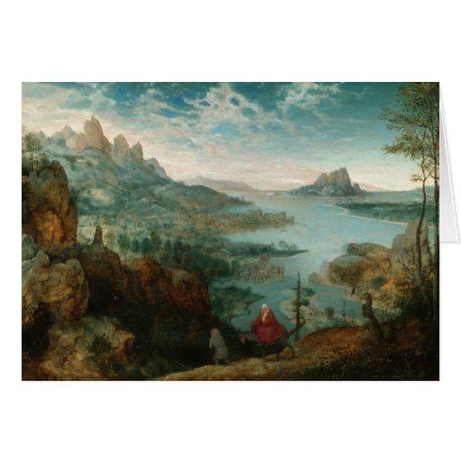 Landscape with Flight into Egypt - Pieter Bruegel Greeting Card