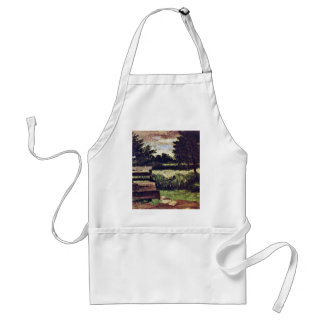 Landscape With Fountain By Paul Cézanne ( Adult Apron