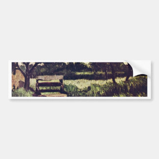 Landscape With Fountain By Paul Cézanne ( Car Bumper Sticker