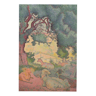 Landscape with Goats, 1895 Wood Wall Art