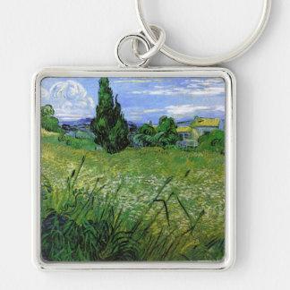 Landscape with Green Corn, Vincent Van Gogh Key Chains