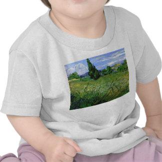Landscape with Green Corn, Vincent Van Gogh Shirts