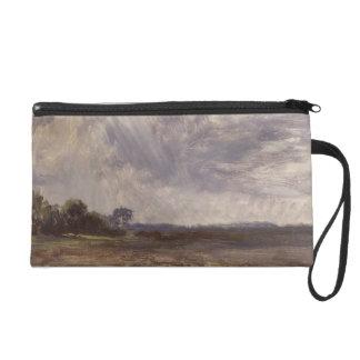 Landscape with Grey Windy Sky, c.1821-30 (oil on p Wristlet Clutch