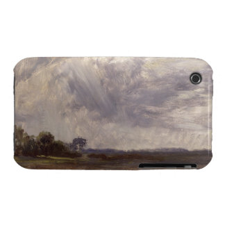 Landscape with Grey Windy Sky, c.1821-30 (oil on p iPhone 3 Case