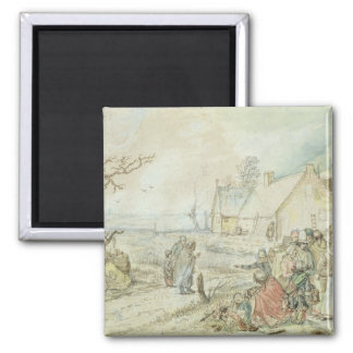 Landscape with Gypsy Fortune-Tellers Magnet