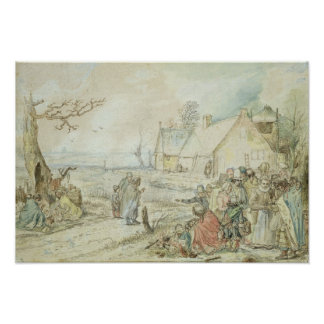 Landscape with Gypsy Fortune-Tellers Poster