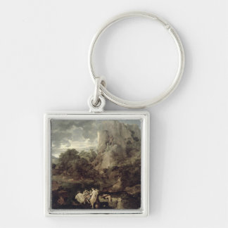 Landscape with Hercules and Cacus, c.1656 Keychain