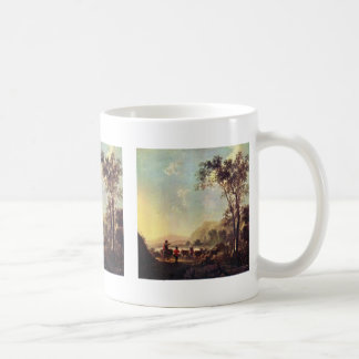 Landscape With Herdsman And Cattle Classic White Coffee Mug